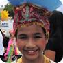 Child wearing ethnic clothing